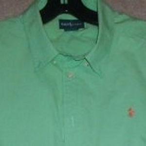 Spring green Ralph Lauren LOGO polo pony shirt